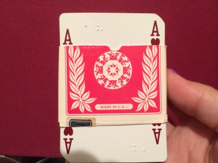Brailling a Deck of Cards