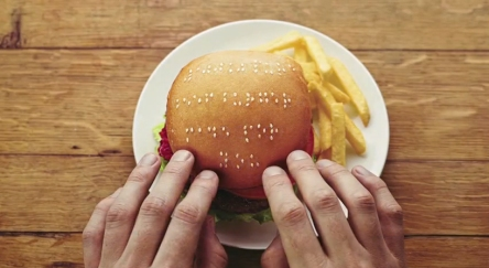 Braille Fail - burger braille