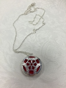 Braille diffuser necklace